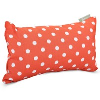 Orange Ikat Dot Small Pillow