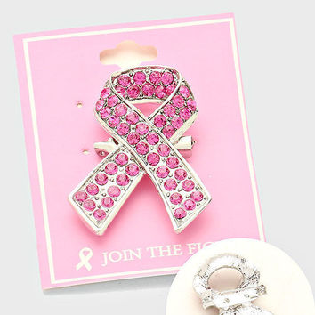 1 Dozen Pink Ribbon  Brooch Cancer Awareness Beautifull Support the Cause