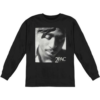 Tupac Men's  Expression  Long Sleeve Black