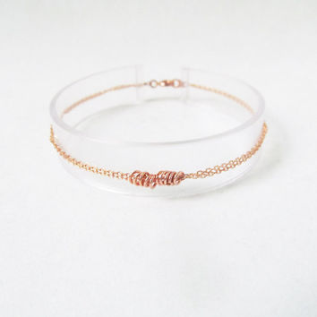 dainty rose gold bracelet, delicate rose gold bracelet, layered rose gold bracelet, minimal bracelet,minimalist jewelry