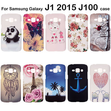 For Samsung Galaxy J1 Case 2015 J100 J100F Cover 3D Embossed Phone Accessories Hard Back Cases Coque Bag Shell SM-J100h Fashion