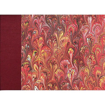 Guestbook Classic Red Peacock