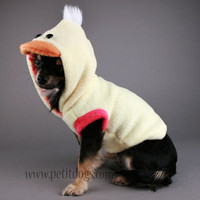 Dog Clothes SMALL Soft Yellow Duck Costume Dog by PetitDogApparel
