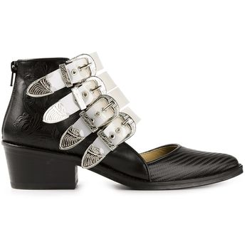 Toga Pulla Clear Strap Ankle Boots