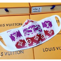 Louis Vuitton LV Comfortable isolation mask with printed letters (safely disinfected)