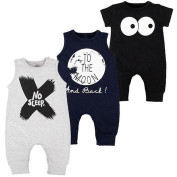 NewBorn Baby Rompers  Summer Sleeveless Roupas Infantis Menino High Quality Cotton Fashion Cool Baby Boy Clothes 4 COlors 0-2T