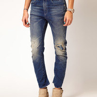 G-Star | G-Star Destroyed Dexter Skinny Jeans at ASOS