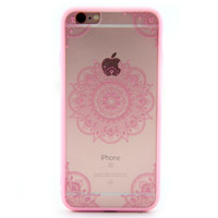 Hollow Out Ethnic Floral iPhone 7 7Plus & iPhone se 5s 6 6 Plus Case Cover +Gift Box-93