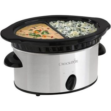 Crock-Pot Double Dipper Slow Cooker, Stainless Steel - Walmart.com