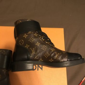 Louis Vuitton Black Wonderland Ranger Calfskin Boots/Booties Size EU 39 (Approx. US 9) Regular (M, B)