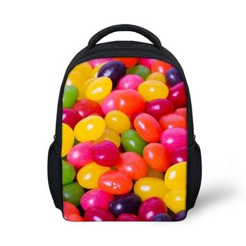 Toddler Backpack class Customized Images Sweet Candy 3D Printed Backpack Toddler Kids Pretty Little Boys Girls School Bagpack Preppy Child Baby Bookbag AT_50_3