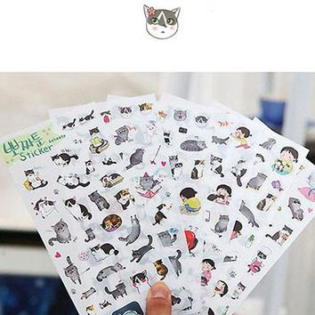 Kawaii Cat 6pc Sticket Set
