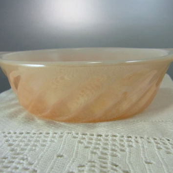 Fire King Peach Lustre Individual Gratin Dish Vintage Anchor Hocking Fire King Kitchen Collectible