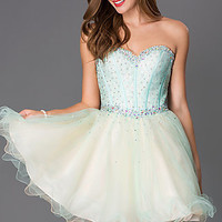 Short Corset Homecoming Dress by Alyce