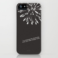 shining like fireworks iPhone Case by Leigh / losinghimwasblue | Society6