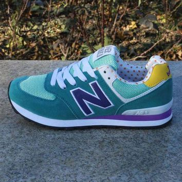 DCCK1IN women men casual running new balance sport shoes sneakers lake blue snow blue