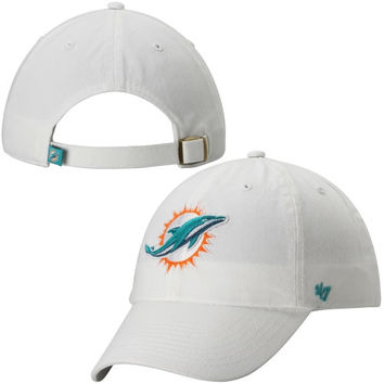 Miami Dolphins '47 Brand Cleanup Basic Logo Adjustable Hat - White