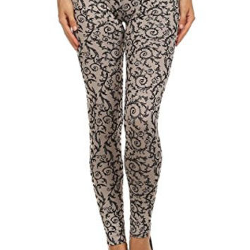 Vine Designed Leggings for Women - Printed Tights for Women
