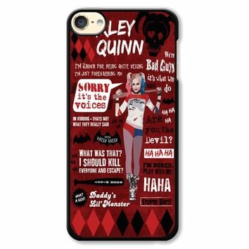 Harley Quinn Quote 2 iPod Touch 6 Case