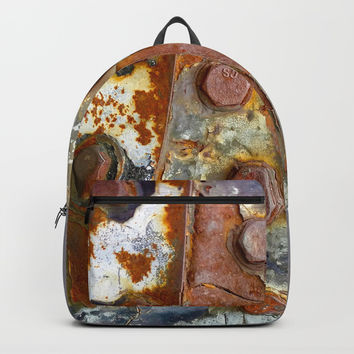 Rusty Bolts Backpack by Heidi Haakenson