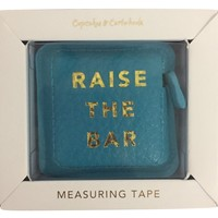 Raise The Bar Gold Hot Stamped Measuring Tape in Gift Box