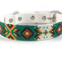 Aztec Waterproof Sport Dog Collar on White - 1 inch