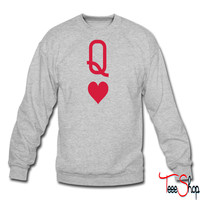Queen of hearts crewneck sweatshirt