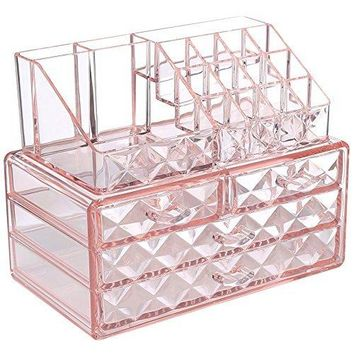 Diamond Acrylic Jewelry & Makeup Organizer