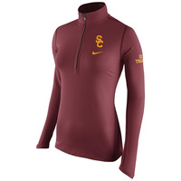 Women's Nike Cardinal USC Trojans Tailgate Element Performance Half-Zip Jacket