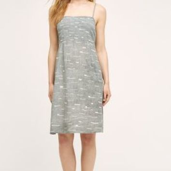 Make It Good Southport Day Dress in Grey Motif Size: