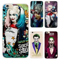 Phone Cases Jared Leto Joker Margot Robbie Harley Quinn Suicide Squad DC Comics Soft TPU Cover For iPhone 5 5s 5c 6 6s 7 Plus SE
