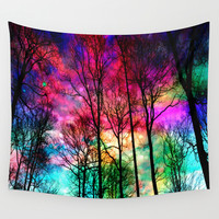 Colorful sky Wall Tapestry by Haroulita