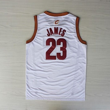CAVS #23 LeBron James Irish High School Mixed Limited Edition Basketball Jersey Embroidery St. Vincent St. Mary shirt Size:S-XXL