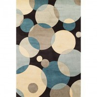 Momeni New Wave 37 Teal Contemporary Wool Rug - NW-37TEL - Blue and Purple Rugs - Area Rugs by Color - Area Rugs
