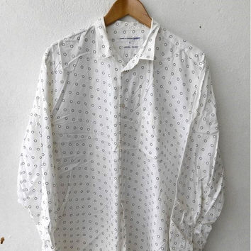BIG SALE 25% Original COMME Des Garcons Junya Watanabe Polka Dot Designer Fashion Casual Shirt Buttondown