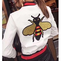 Gucci Bee embroidered jacket(3- colors)
