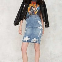 One Teaspoon Freelove Denim Skirt - Ford