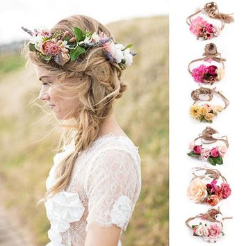 Boho Floral Hair Wreath, Bridesmaid Gifts