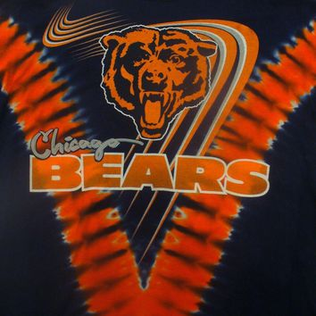 CHICAGO BEARS NEW Tie Dye V Dye T-Shirt NFL Licensed TEAM APPAREL NWT