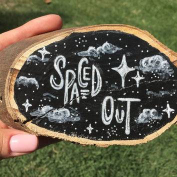 Spaced Out Hand Lettered Chalkboard