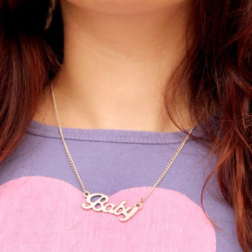 Baby Necklace - Short Silver Chain