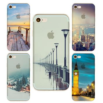 Empire Building phone Cases For Iphone 6 6s 6Plus 7 7plus Soft TPU Silicon Eiffel Tower London Big Ben Phone Cover Case