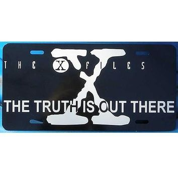 X-Files The Truth is Out There Black License Plate Car Tag