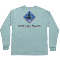 Branding - Flying Duck Long Sleeve Tee in Washed Moss Blue by Southern Marsh - FINAL SALE
