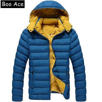 Warm Men's Jackets Slight Waterproof Casual Outerwear Snow Coats Parkas Thick Hooded Winter Jacket For Man 5XL