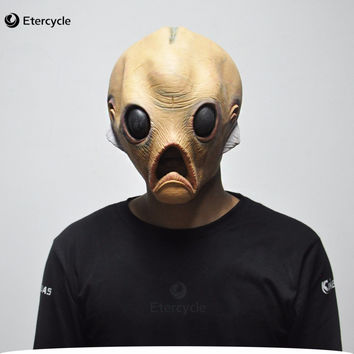 Scary Alien Latex Masks Halloween ET Cosplay Props Party Fancy Dress Extra Terrestrial Mask