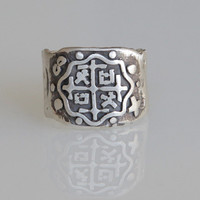Piece of Eight - Sterling Silver .925 - pirate ring - explorer's ring