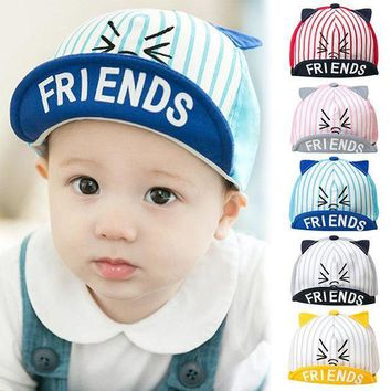 PEAP78W 2017 Summer Cat Pattern Toddler Kids Infant Sun Cotton Cap Cute Baby Girls Boys Sun Beach Hat