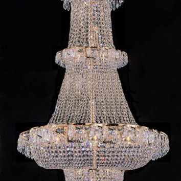 "French Empire Crystal Chandelier Chandeliers Lighting 60""x36"" - A93-928/32"