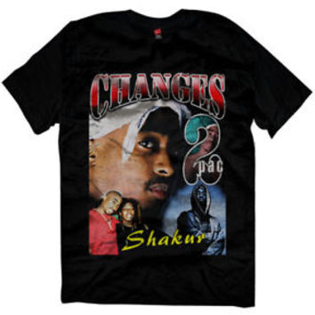 New Changes makaveli  vintage 90's Design Reprint Tupac T-shirt size M-2XL